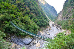 Swing Bridge in  Taroko Stock Images