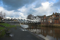 Swing Bridge Town Stock Images