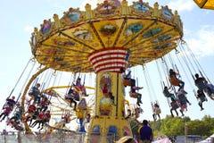 Swing carousel ride Royalty Free Stock Image