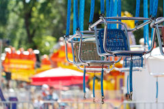 Swing carousel ride Royalty Free Stock Images