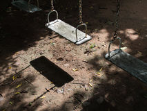 Swing Chairs Abandoned Royalty Free Stock Photo