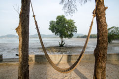 Swing chairs and beach. Thailand Royalty Free Stock Image