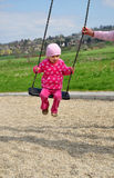 Swing child play Royalty Free Stock Photos