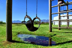 Swing in children playground Stock Photography