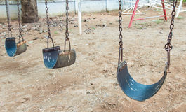 Swing in children playground Royalty Free Stock Images