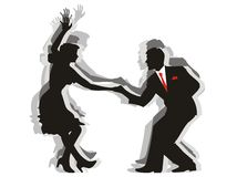 Swing Dance Couple Royalty Free Stock Images