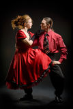 Swing dancers Stock Images