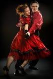 Swing dancers Royalty Free Stock Image