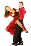 Swing dancers. Two swing dancers isolated on white Stock Images