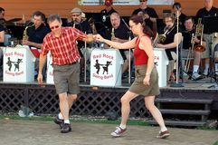 Swing Dancing. ST. PAUL - AUGUST 28:  Swing Dancing Performers at the Minnesota State Fair on August 28, 2010 in St. Paul Stock Photo