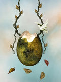 Swing egg Royalty Free Stock Images