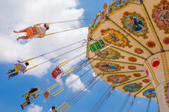 Swing exciting amusement ride Royalty Free Stock Image