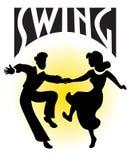 swing för pardanseps royaltyfria bilder