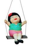 swing för ritt för barnleradocka Royaltyfri Foto