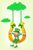 swing för sitting för hästtrollsko royaltyfri illustrationer