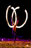 Swing fire show Stock Images