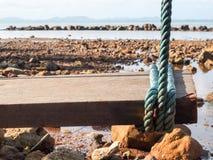 Swing focus on rope. Stock Photos