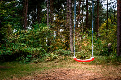 Swing in forest Royalty Free Stock Photos