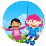 Swing and Fun Royalty Free Stock Images