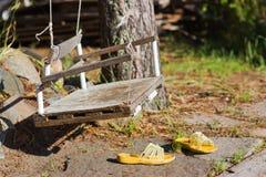 Swing in garden Stock Image