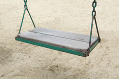 Swing in garden playground at park outdoor Royalty Free Stock Image