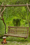 Swing in the garden. Of a private house Royalty Free Stock Photos