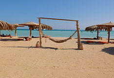 Swing at Giftun Island. In Egypt Royalty Free Stock Photos