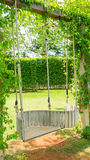 Swing hanging on tree Stock Images