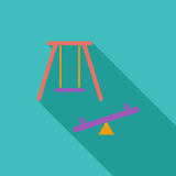 Swing icon. Flat vector related icon with long shadow for web and mobile applications. It can be used as - logo, pictogram, icon, infographic element. Vector Stock Photography