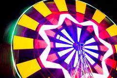 Swing light colorful background. Photograph at long exposure. Royalty Free Stock Photos