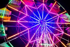 Swing light colorful background. Photograph at long exposure. Royalty Free Stock Image