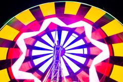 Swing light colorful  background.  Photograph at long exposure. Swing light colorful background photographed at long exposure. Concept for enjoy garden party Stock Images