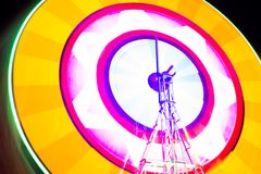 Swing light colorful background. Photograph at long exposure. Swing light colorful background photographed at long exposure. Concept for enjoy garden party and Royalty Free Stock Photos