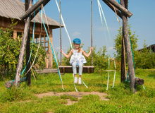 On the swing Stock Photo