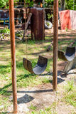 Swing Made from Tire Stock Photos