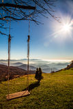 Swing in the mountains Stock Photography