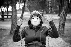 Swing Murderer on hood Royalty Free Stock Images