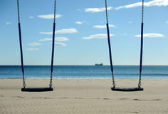 Swing and Ocean Royalty Free Stock Photos