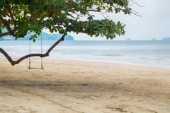 Swing på stranden Royaltyfria Bilder