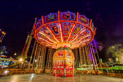 Swing park night Royalty Free Stock Images