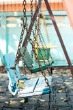 Swing. In the play grounds Stock Image
