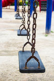 Swing on the playground Stock Photo