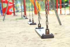 Swing in playground Royalty Free Stock Images