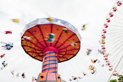 Swing Ride. Navy Pier on Lake Michigan, Chicago, Illinois, United States of America Royalty Free Stock Image