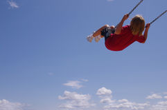Swing ride stock photography
