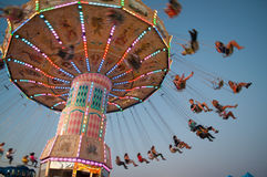 Swing Ride At Fair Royalty Free Stock Photography
