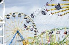 Swing ride at fair Stock Photos