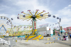 Swing ride at fair Stock Photo