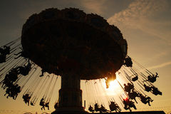Swing Ride at Sunset Royalty Free Stock Photography