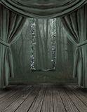 The Swing Room. A swing in a surreal room with a stage like atmosphere Royalty Free Stock Photos
